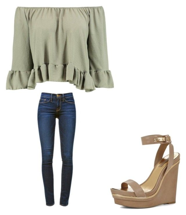 """""""💞"""" by melodyleighmitchell on Polyvore featuring Boohoo, Frame Denim and BCBGMAXAZRIA"""