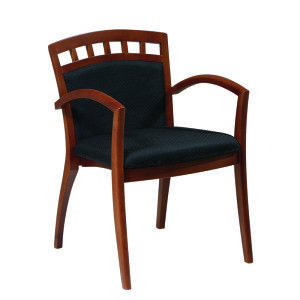 M 94 Desk It U2013 Madison Guest Chair, Cherry Wood With Curve Arm And