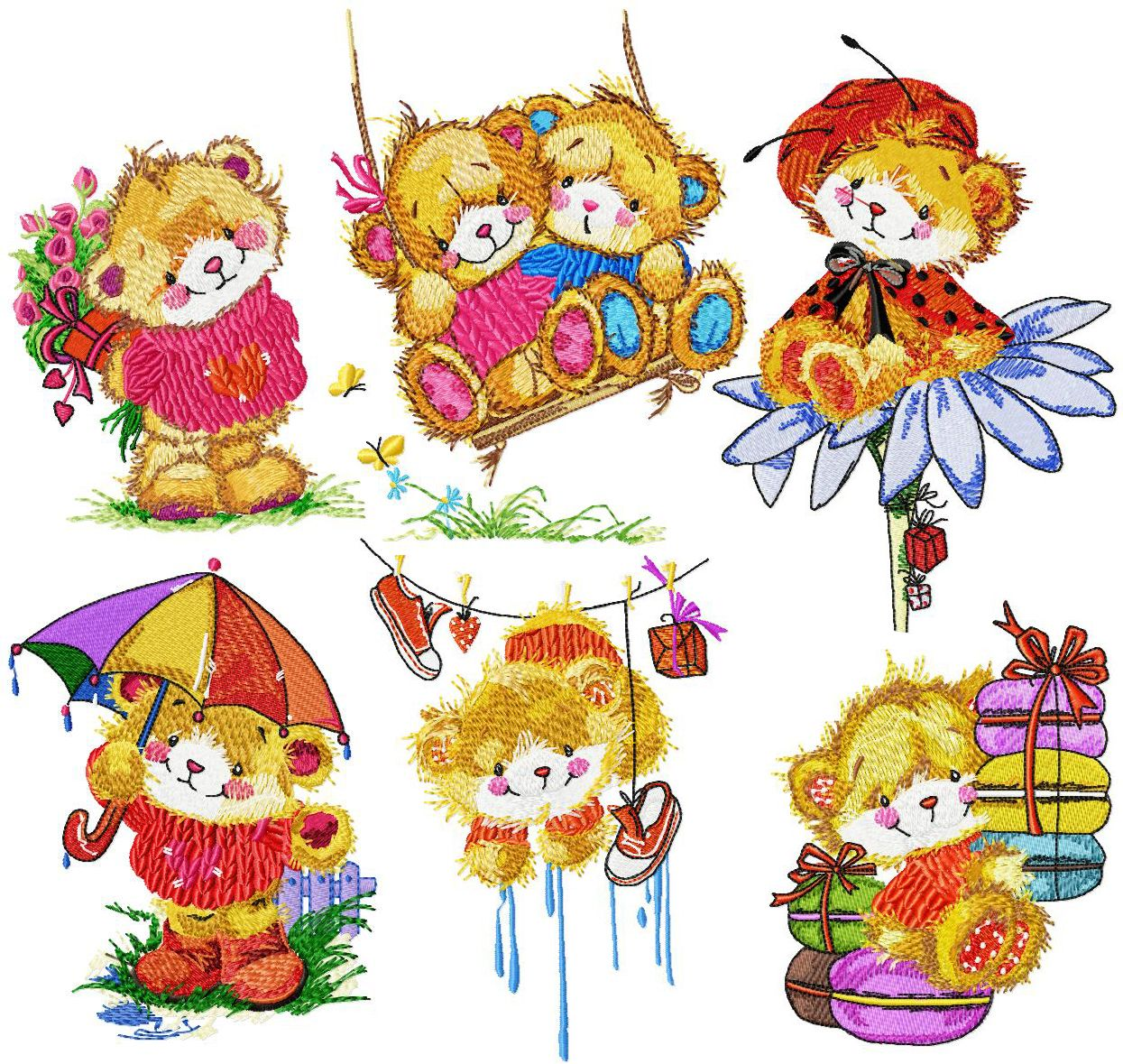 Teddy Bear Cuties Set For 5x7 Ageless Embroidery