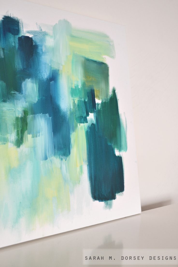 abstract painting.  I'd like to try my hand at some of these creations myself for a gallery wall that's personalized.
