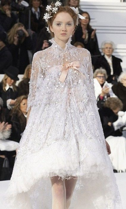 chanel wedding gown | Celebrate Brides | Pinterest | Lily cole ...