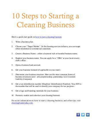 How To Start A Cleaning Business  Cleaning Company