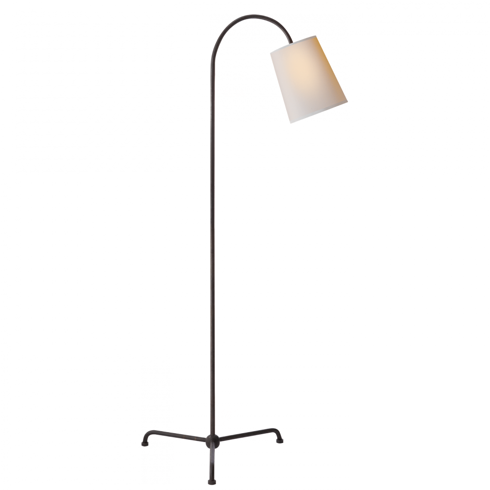 Paper Shade Floor Lamp Endearing Visual Comfort Tob 1021Ainp  Mia Floor Lamp In Aged Iron With Decorating Design