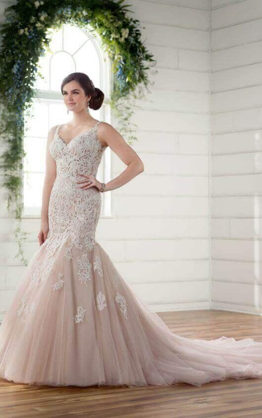 Fit and flare wedding dress australia lace