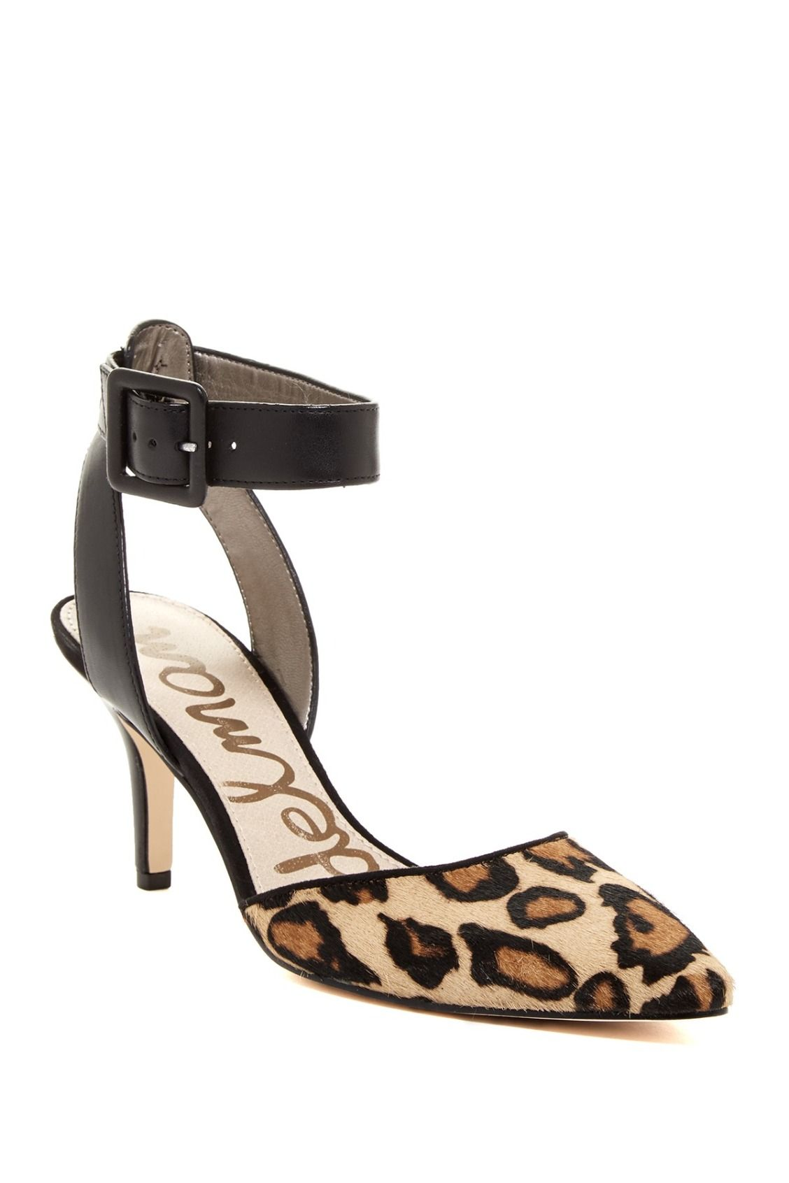7a6baab6764d10 Little bit of leopard! Sam Edelman Okala Ankle Strap Pumps