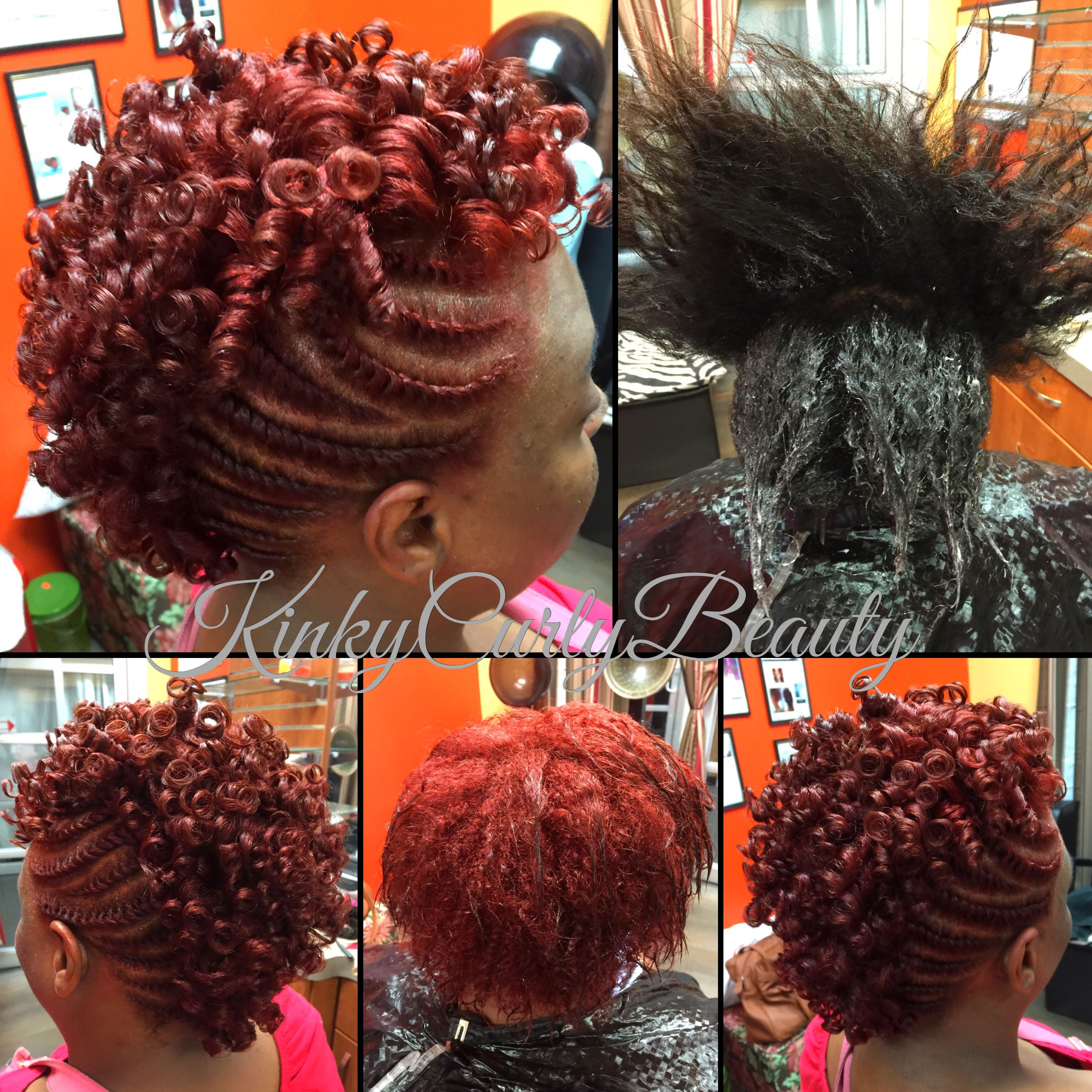 new color with a flat twist, rodded mohawk | hair styles by kinky