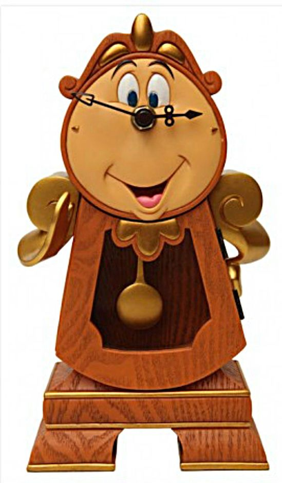 Disney Parks Beauty The Beast Cogsworth Figure New In Box Ready To Ship Disney Decor Cogsworth Clock Disney Beauty And The Beast