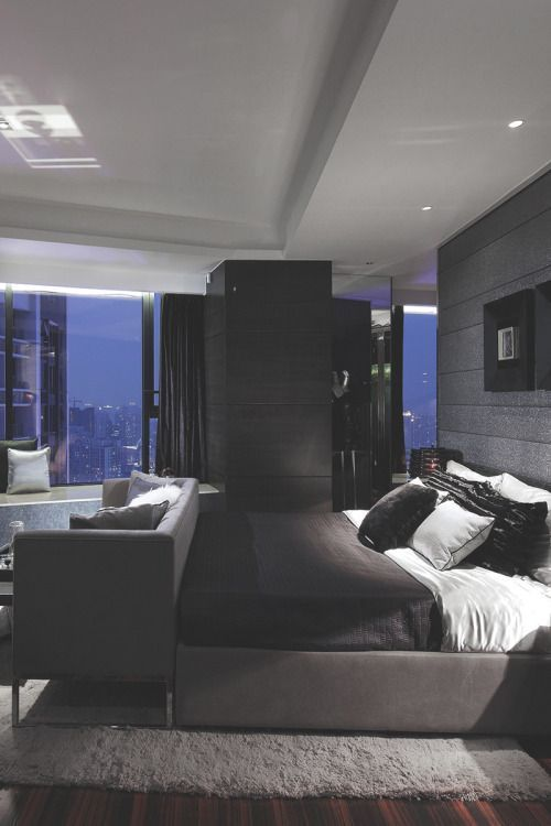 Luxury Black Bedroom Idea Contemporary Furniture Layout Luxurious Bedrooms Remodel Bedroom Modern Master Bedroom