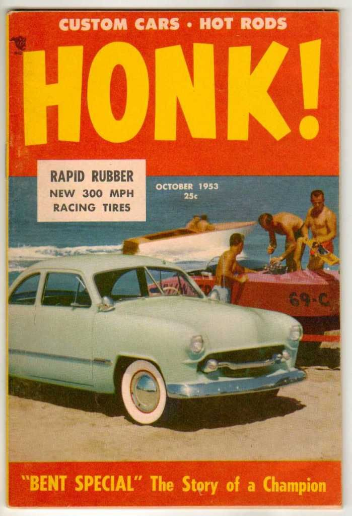 Honk! October 1953 #6 Old Vintage Car Magazine Classic Custom Hot ...