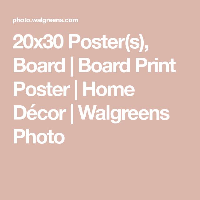 20x30 poster s board board print