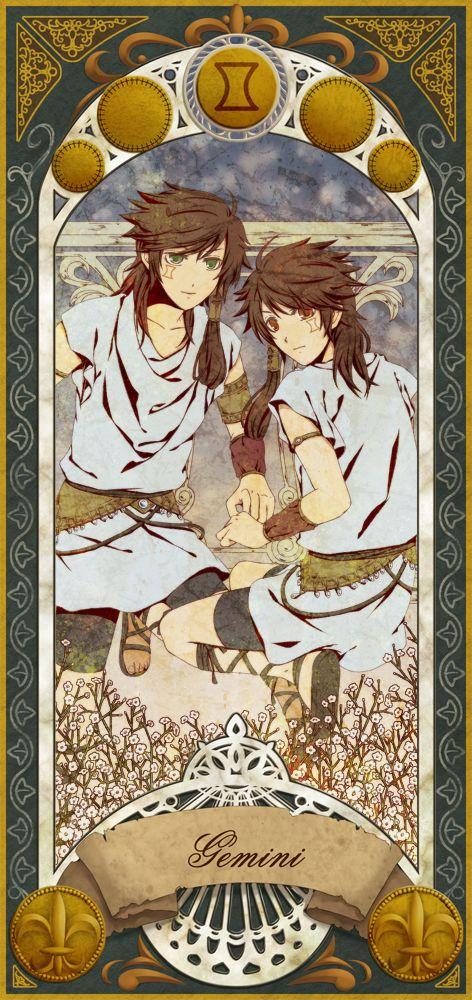 Gemini the Twins Anime zodiac, Gemini art, Gemini zodiac