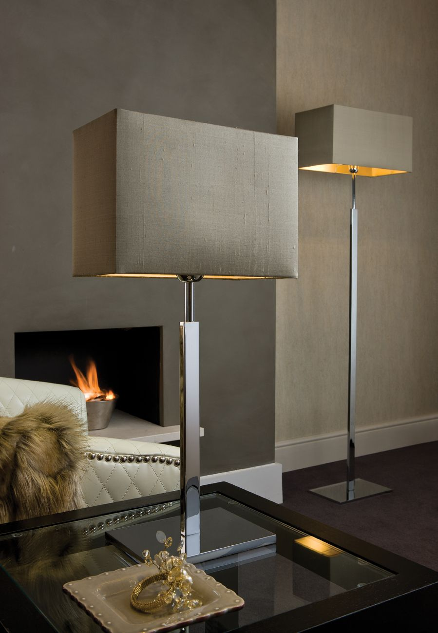 Cosmopolitan Chrome Floor Lamp Matching Table Wall Lamps Available Click Image For Full Screen View