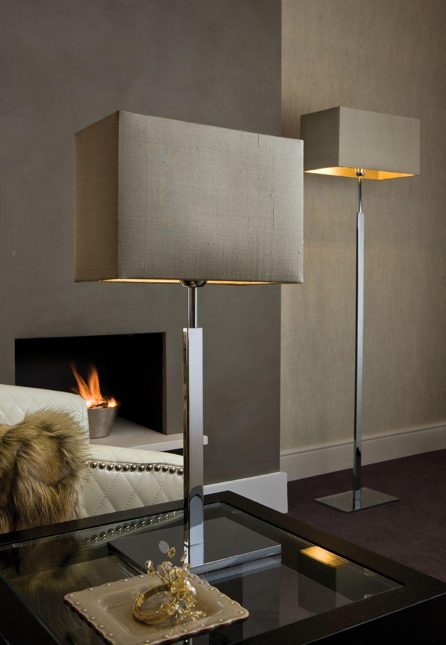 Cosmopolitan Chrome Floor Lamp Matching Table Wall Lamps