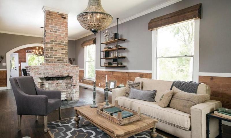 عند تصميم الديكور الداخلي ي فض ل اختيار طراز معي ن ي طب ق في الغرف كافة Living Room Decor Rustic Rustic Farmhouse Living Room Farmhouse Decor Living Room