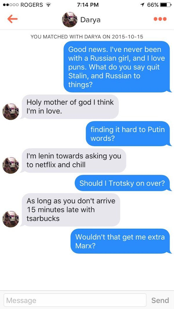 Funny things to say to a girl online dating