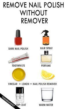 7 Best Ways To Remove Nail Polish Without Remover Diy Nail Polish Remover Gel Nail Removal Nail Polish Remover