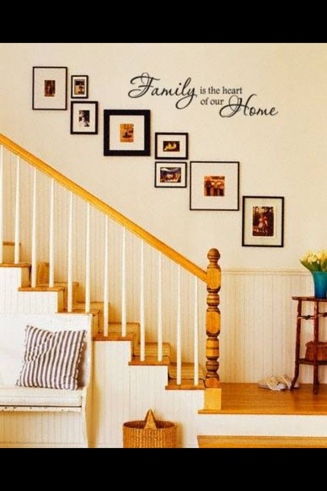 Pictures up staircase wall | house ideas | Pinterest | Staircases ...