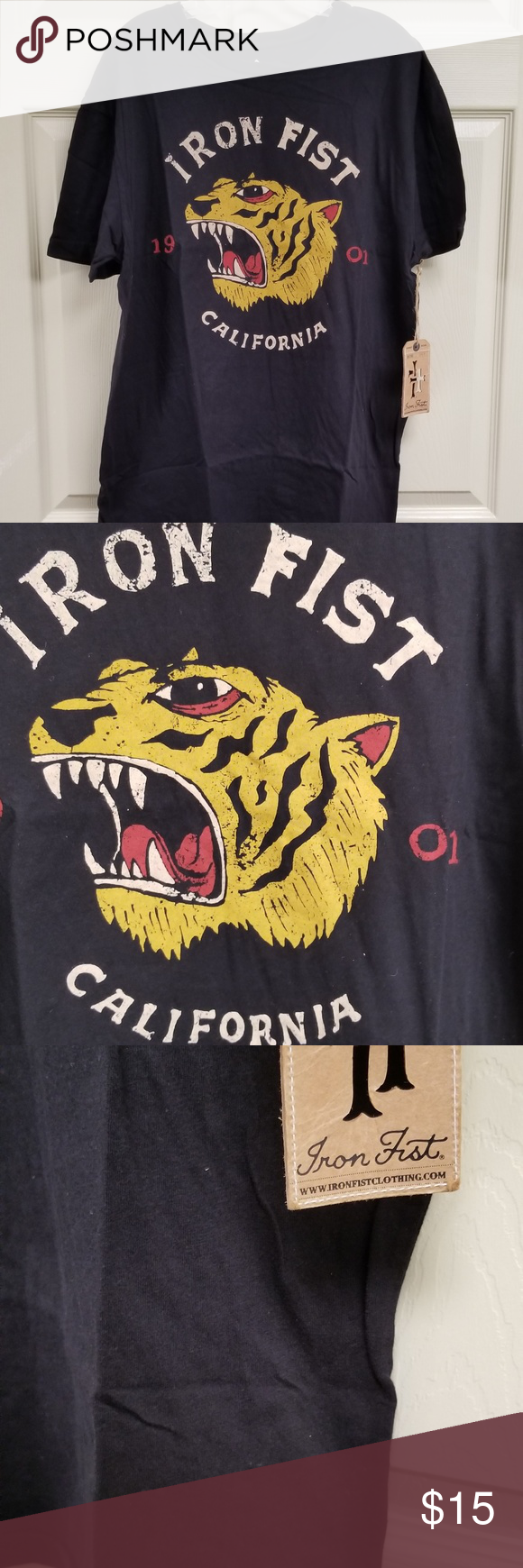 NWT Iron Fist Black California Logo Tee brand new with