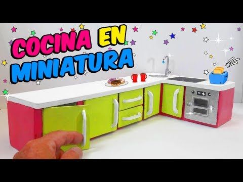 Ces De Cocina Youtube | Diy Cocina En Miniatura Para Barbies Hecha Con Carton Youtube