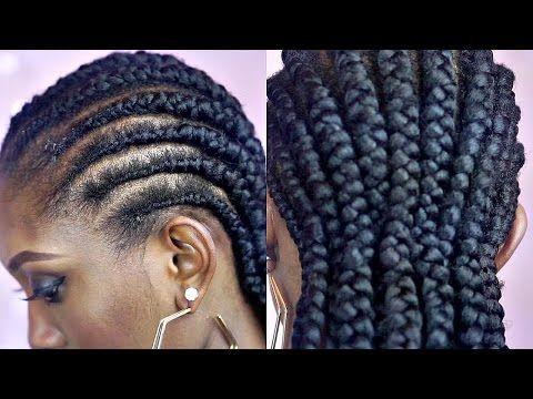 Tutorial How To Braid Big Cornrows On Short Natural Hair