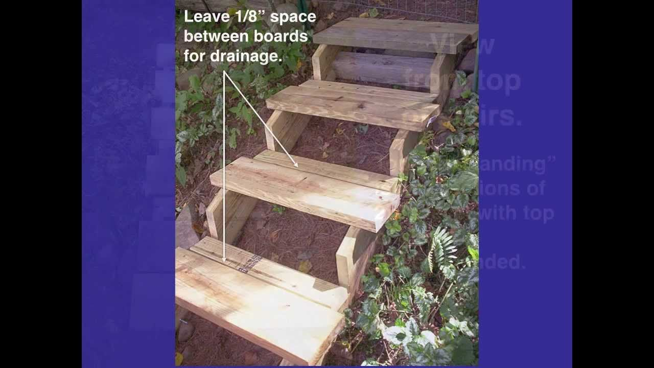 Building Steps On A Hillside How To Build Steps Garden Stairs