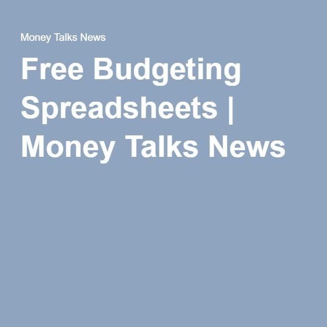 Free Budgeting Spreadsheets Financial Well-Being by Neil Schneider