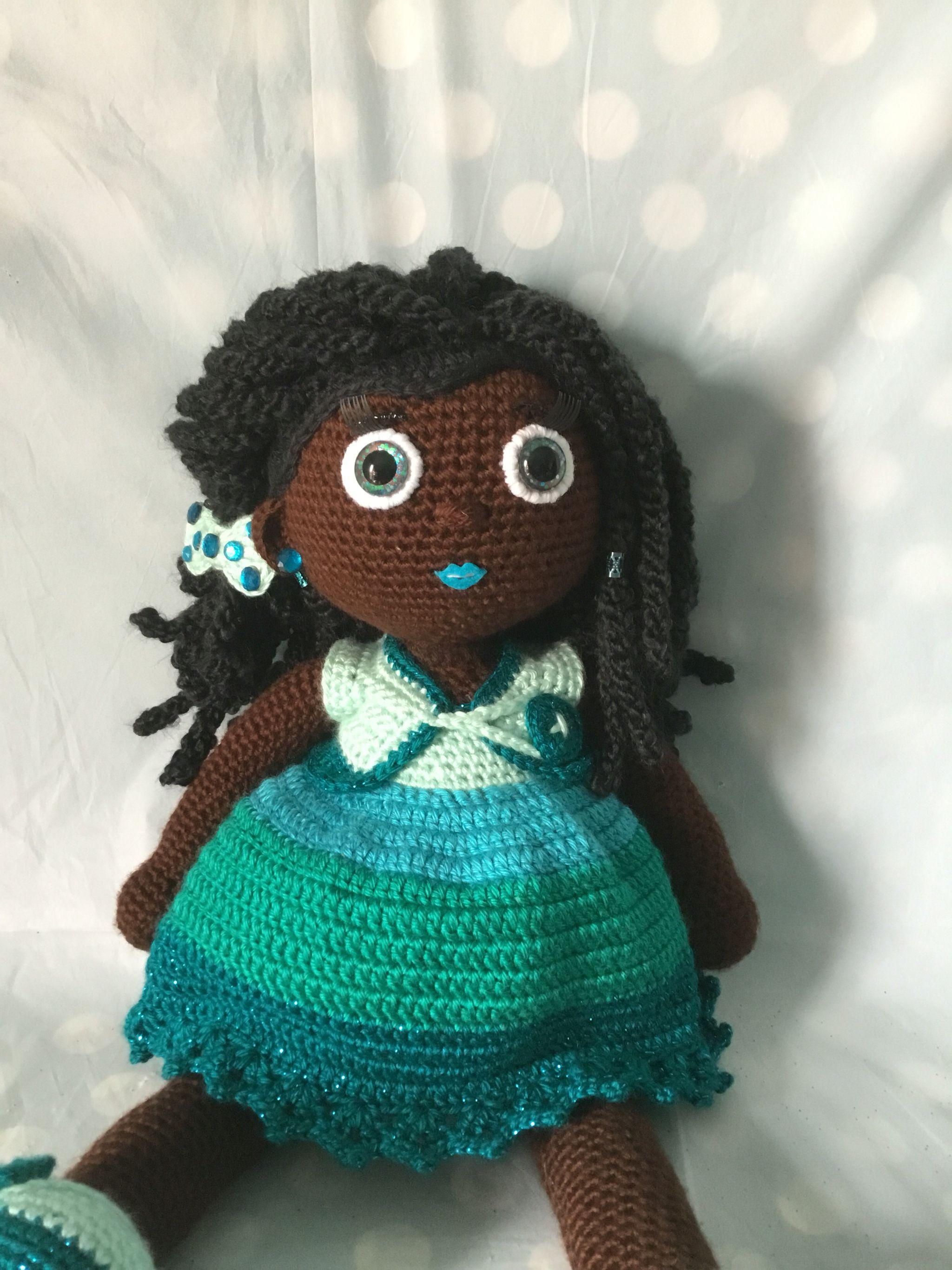 Crochet Doll; African American girl with dreadlocks ...