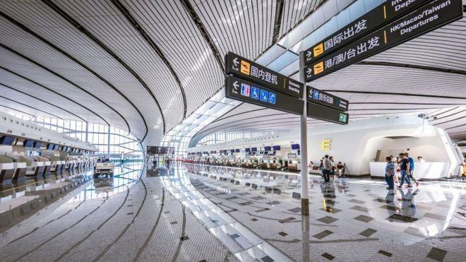 Vista de la terminal del nuevo Aeropuerto de Beijing
