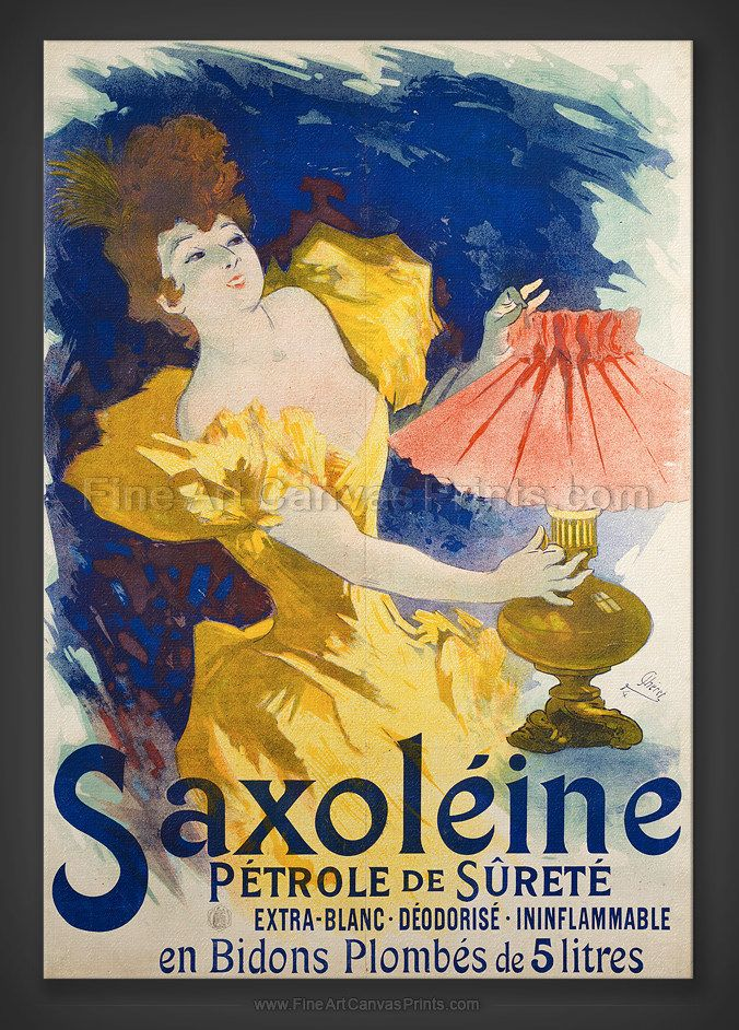vintage french ad poster SAXOLEINE classic brand WELL KNOWN COLLECTORS 24X36