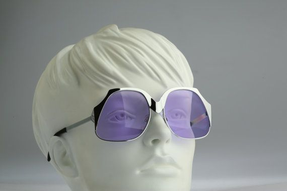 Vintage sunglasses   NOS  70s space disco style