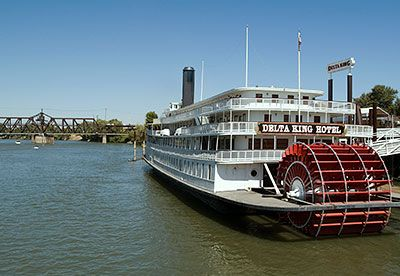 National Register 78000797 Delta King Riverboat In Sacramento California River Boat Sacramento River Utility Boat