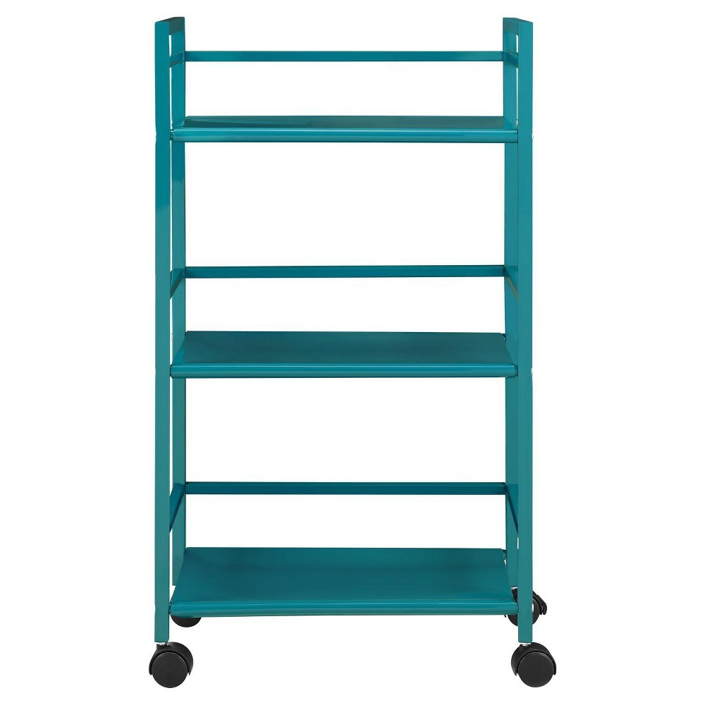 Marshall 3 Shelf Metal Rolling Utility Cart - Teal (Blue ...