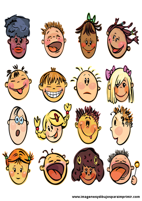 Caras de niños para imprimir