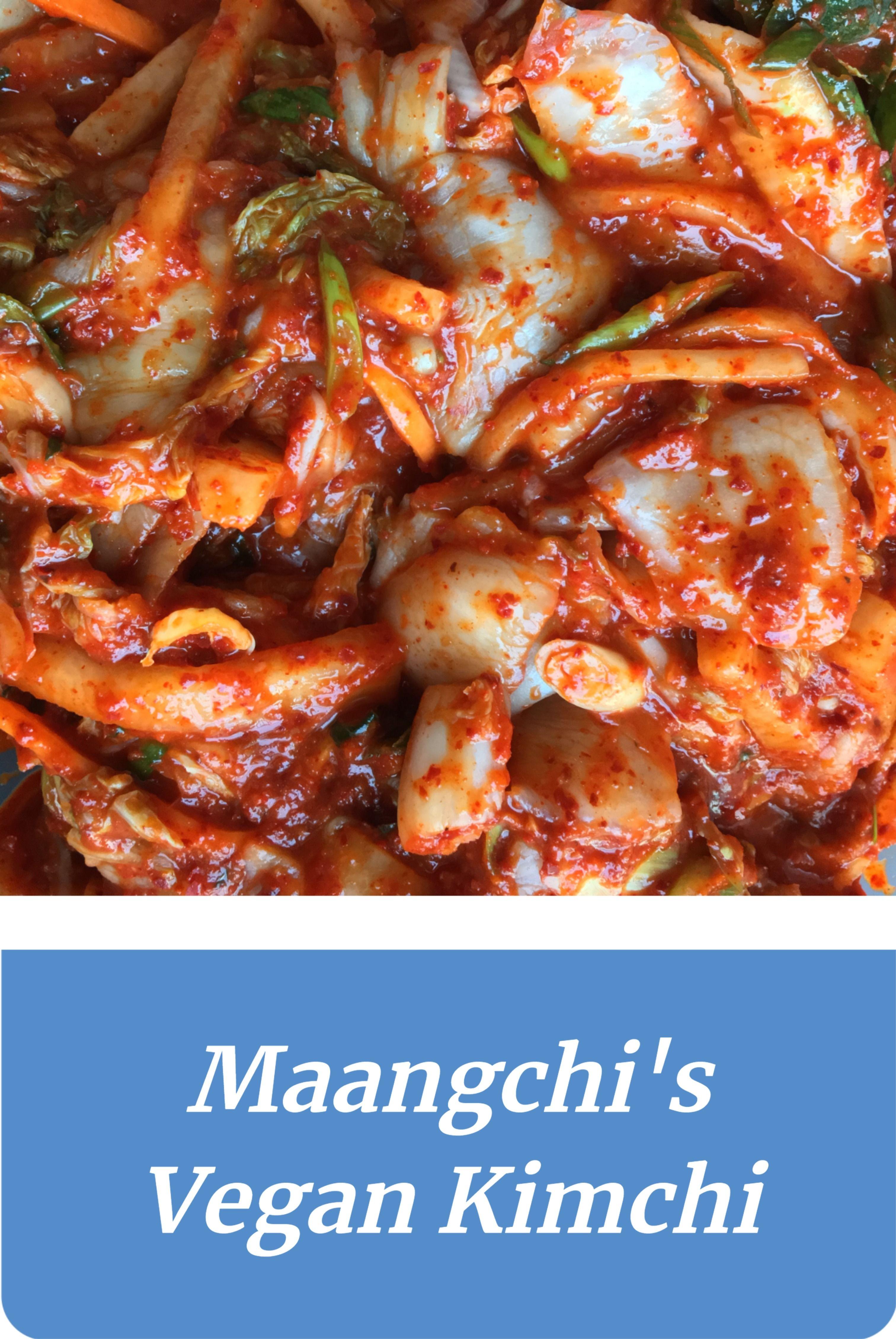 Made Maangchi's recipe for vegan kimchi without fish sauce. Give it a go for a meat/fish-free alternative.  #vegan #veganfood #veganrecipe #vegetarian #vegetarianfood #vegetarianrecipe #recipeideas #korean #koreanfood #kimchi #spicyfood #fermentation #maangchi #homecooking #recipeinspiration #probiotic