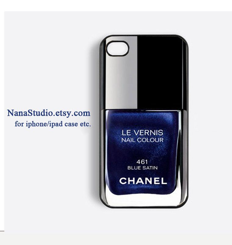 iPhone 4/4sCase - Chanel Blue Satin Nail Polish case, iPhone Case ...