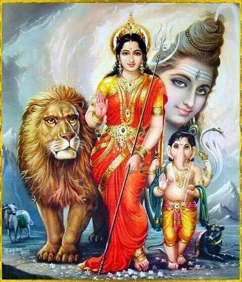 พระแม อ มาพระพ ฆเนศวรและพระศ วะ Shiva Parvati Images Durga Shiva Shankar