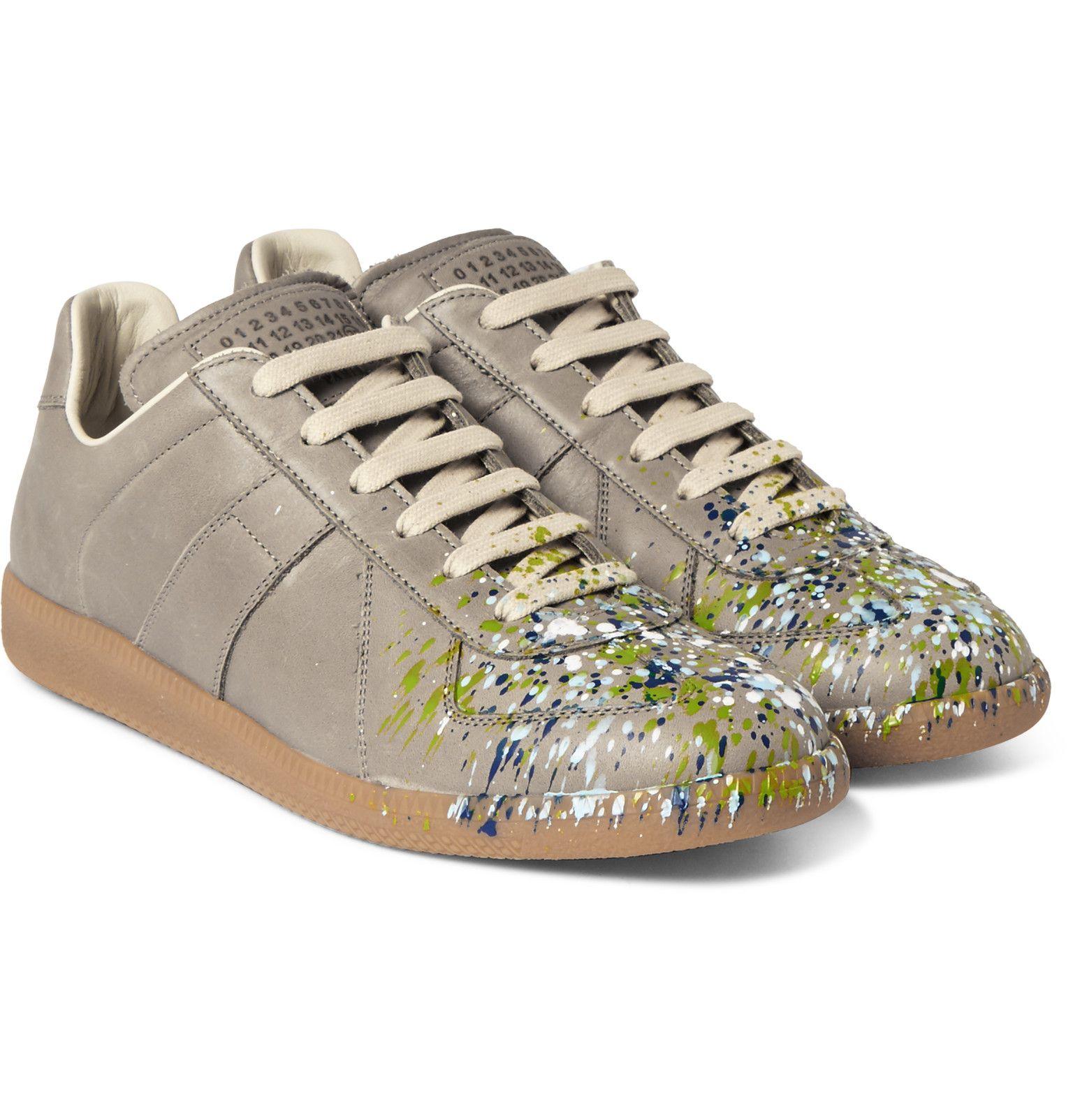 Maison Chaussures De Sport Éclaboussures De Peinture De Réplique De Margiela - Noir p4N2lDXxv
