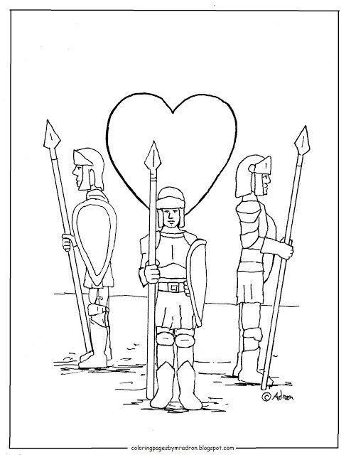 Guard Of Your Heart Printable Coloring Page Heart Printable