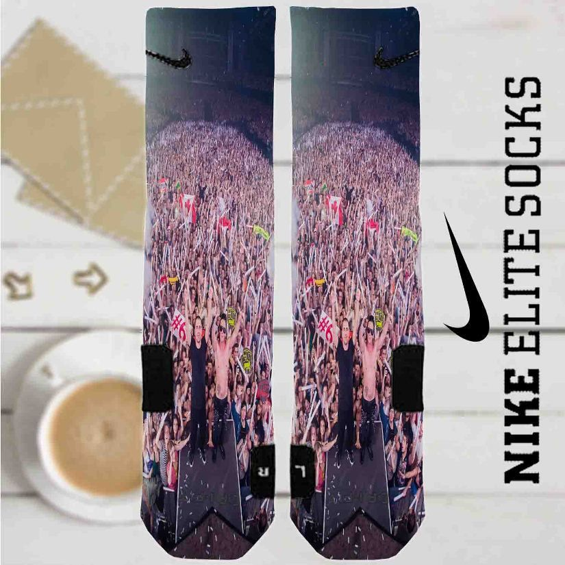 Dimitri Vegas and Like Mike Custom Nike Elite Socks