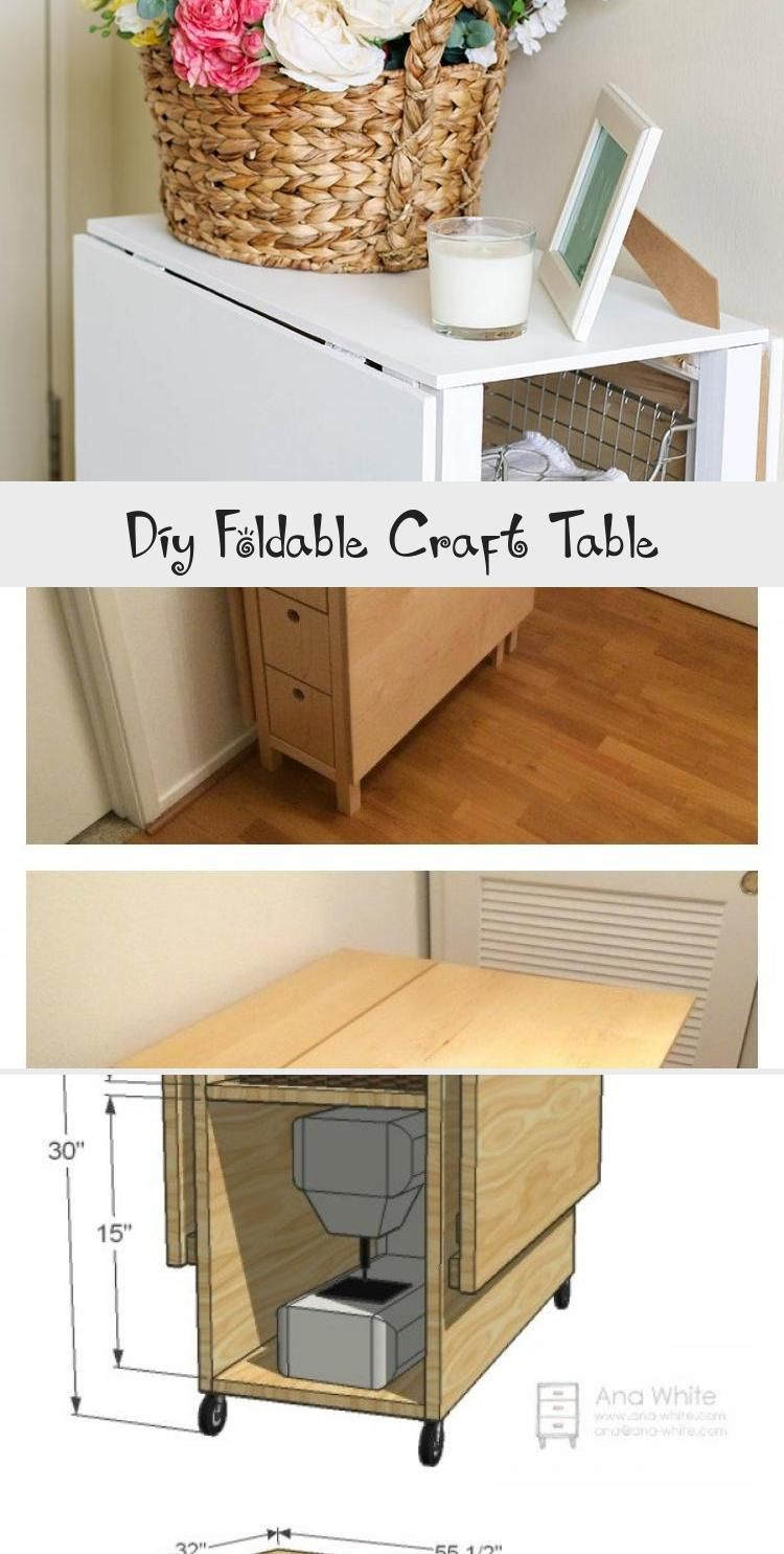 Diy Foldable Craft Table Woodworkingplans