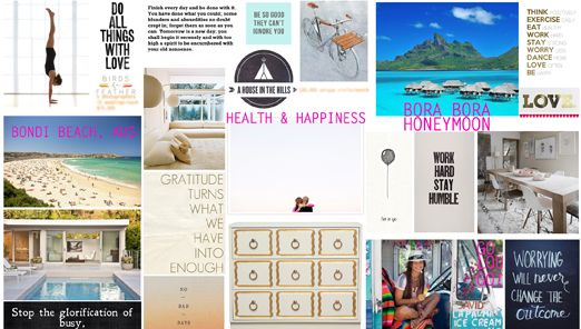 do you have a visionboard? - a house in the hills - interiors, style, food, and dogs