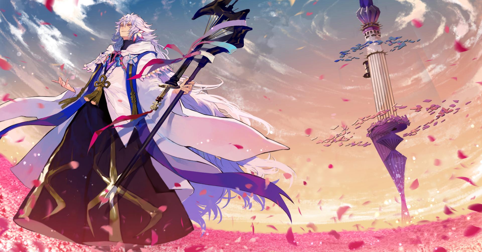 Anime Fate Grand Order Merlin Fate Series Wallpaper