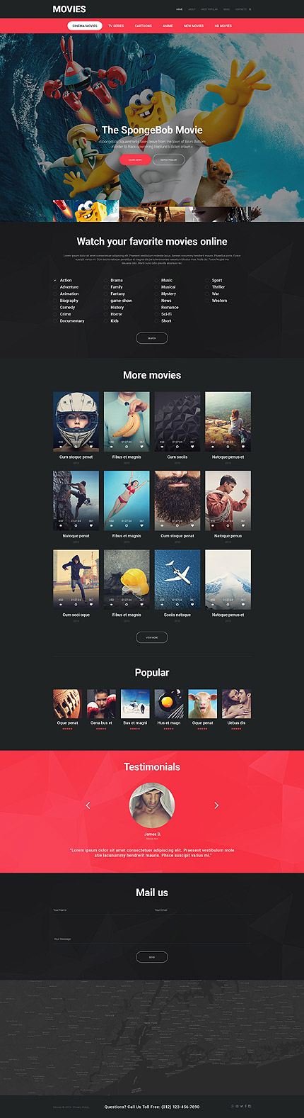 movies online website template themes business responsive