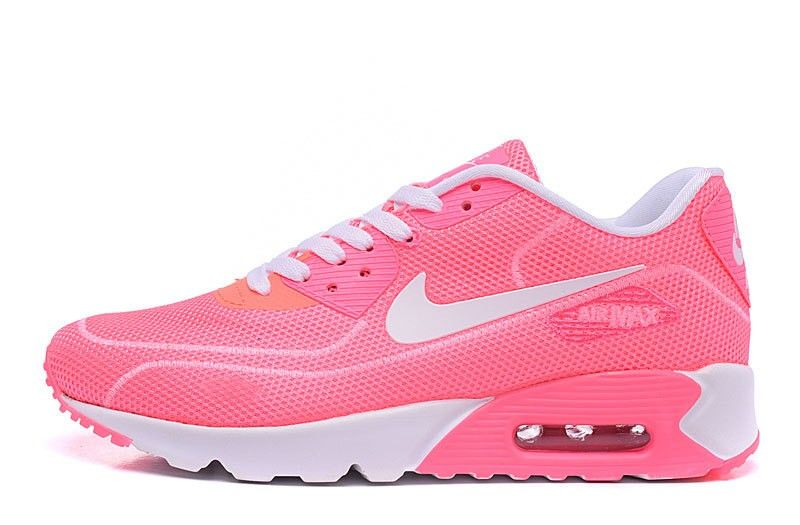Supreme x Nike Air Max 90 Firefly Series Luminous Womens Sports Shoes Pink White