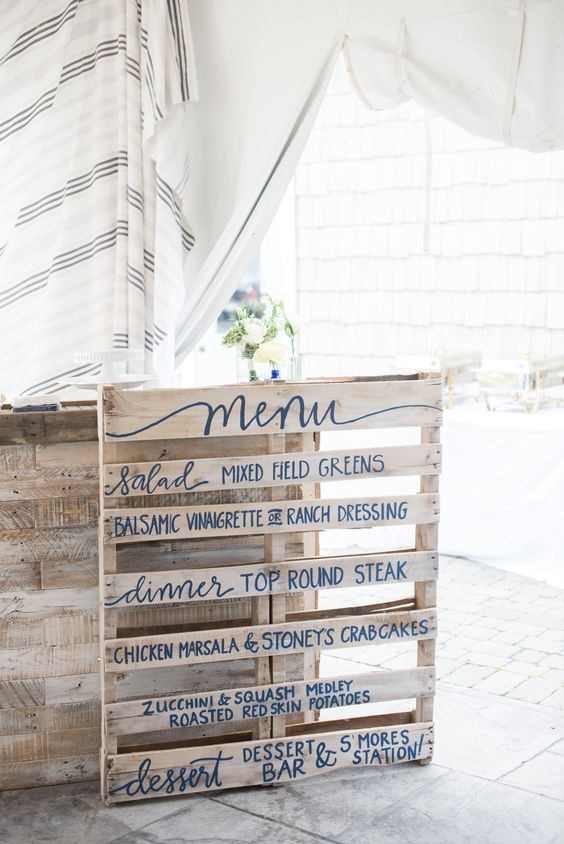 "Say ""I Do"" to These Fab 100 Rustic Wood Pallet Wedding Ideas #weddingmenuideas"