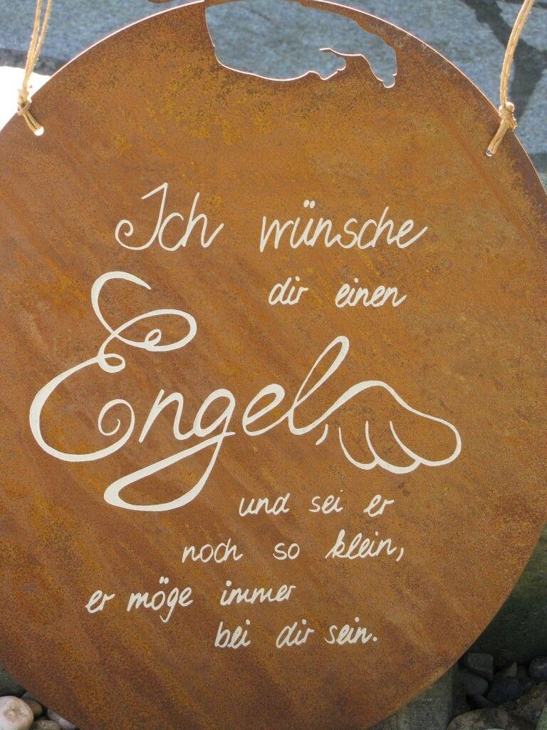 "Edelrost Gedichttafel ""Engel Amore"""