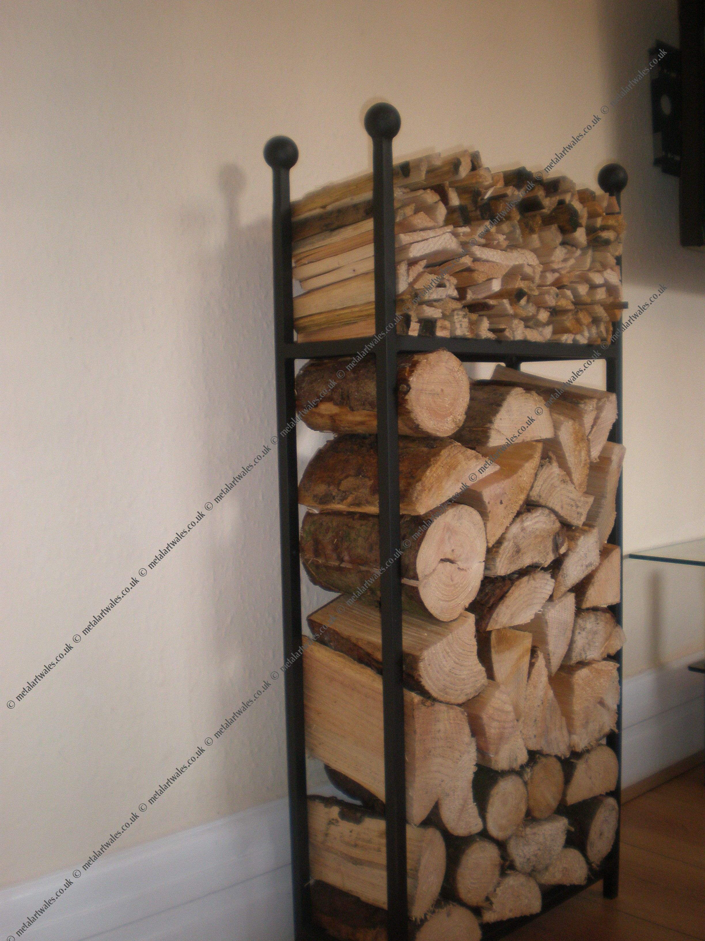 chairish fireplace rustic product wood rack