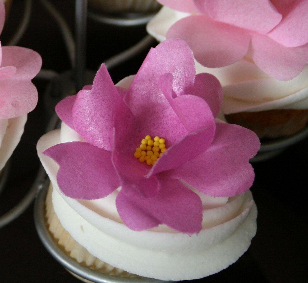 12 Edible Wild Roses Wafer Paper Flower 2140 Via Etsy Wafer