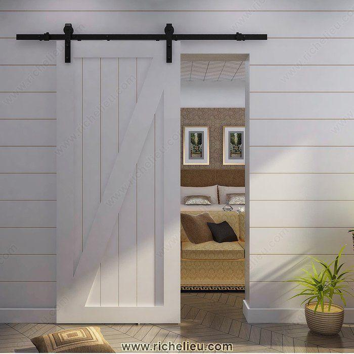 Set for Wood Door with Visible Steel Hardware - Richelieu Hardware & Set for Wood Door with Visible Steel Hardware - Richelieu Hardware ...