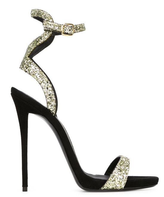 31d1ed010dc35 Giuseppe Zanotti black and gold strappy sandals | footwear | Sandals ...